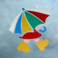 kleurige paraplu